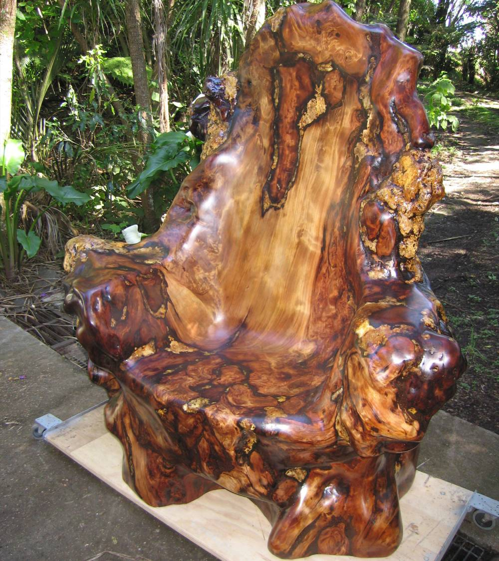 A chair by Kauri Craft and Furniture in Auckland