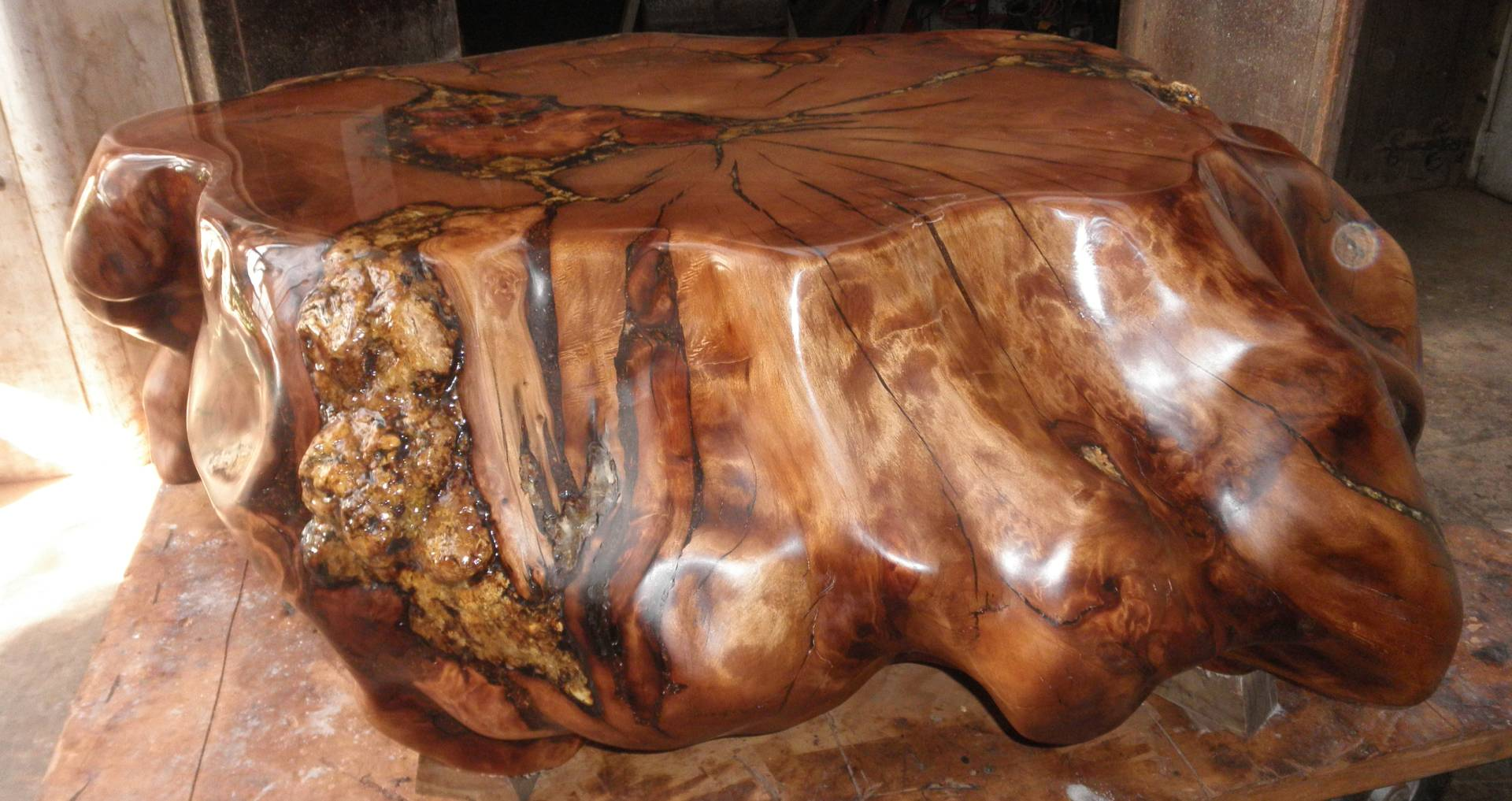 A coffee table from Kauri Craft and Furniture in Auckland